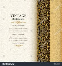 vintage background antique invitation card royal stock vector
