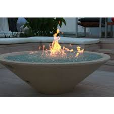 Fire Pit With Water Feature - shop spotix round afg match lit fire pit burner kits