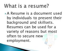What Is A Resum Career Guidance Ppt Video Online Download