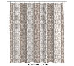 moroccan taupe gray and ivory shower curtain 107 by anitavee