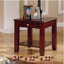 Storage End Tables For Living Room Cherry End Table Ebay