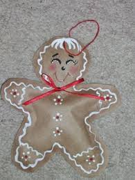 gingerbread made from a brown paper bag
