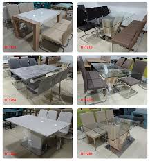 Buy Dining Table Malaysia High Quality Glass Top Mdf Wood Dining Table Made In Malaysia