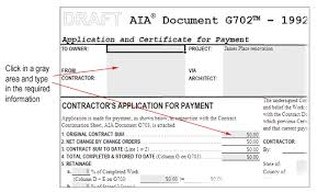 Aia G702 Excel Template Software Help Copyright Aia Contract Documents Software Help Pdf