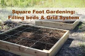 Square Foot Raised Garden Bed Filling And Grid Tutorial Square Foot