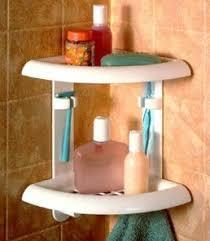 Corner Bathroom Shelving Zenith Products 2 Tier Plastic Corner Shelf For Bathroom