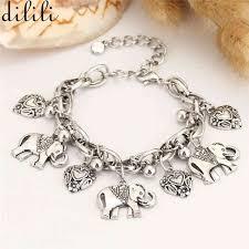 silver chain link charm bracelet images Dilili 2017 fashion antique gold silver chain link bracelet heart jpg