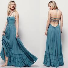 backless dress bohemian backless dress cassy