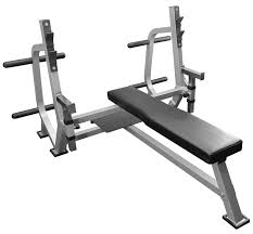 olympic weight bench with spotter stand and plate storage pegs
