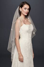 wedding veil styles 3d floral length veil david s bridal