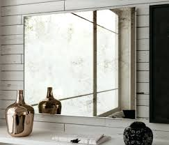 wall mirrors large frameless beveled wall mirror chic large