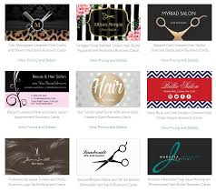 Hairdresser Business Card Templates Girly Business Cards