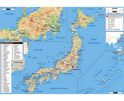 East Asia Physical Map by Maps Of Japan Detailed Map Of Japan In English Tourist Map