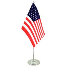 Us Flag Pole Satin Table Flag Usa 6x9