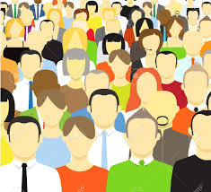 community clipart crowded person pencil and in color community