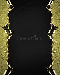 beautiful gold frame with gold ornaments on black background