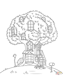 classy treehouse coloring pages tree house cecilymae