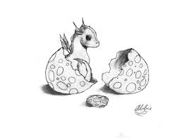 cute baby dragons baby dragon and egg by znnai on deviantart