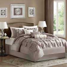 Beige Bedding Sets Bedroom Design Cozy Feizy Rug With Table Lamp And Comfortable Bed