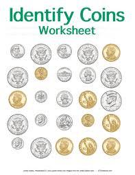 identifying coins worksheet stem sheets