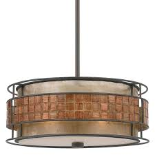 Light Pendants Quoizel Mc842crc Renaissance Copper Laguna 3 Light Drum Pendant