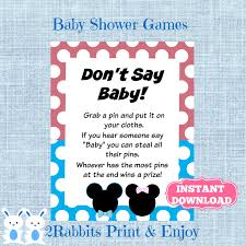 mickey and minnie mouse twins don u0027t say baby game gender