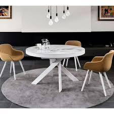 ceramic top dining room tables tivoli cs 4100 ceramic white marble top extendable dining table by