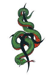tribal snake tattooforaweek temporary tattoos largest temporary