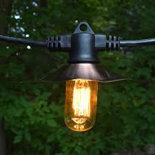 35 cafe string lights copper finish t14 edison cage bulbs