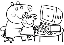 peppa pig valentines coloring pages peppa pig coloring pages pig coloring in pages free cartoon coloring