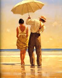 Cheap Beach Umbrella Jack Vettriano Mad Dogs Framed Canvas By Precision Series Tfg
