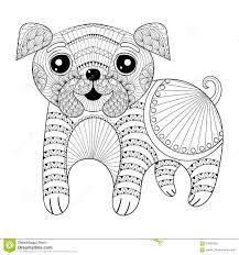 zentangle hand drawing dog for antistress coloring pages post c
