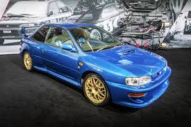 blue subaru hatchback evolution of the subaru sti autotrader ca