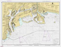 Long Beach Map Print Of Los Angeles And Long Beach Harbors Poster On Vintage