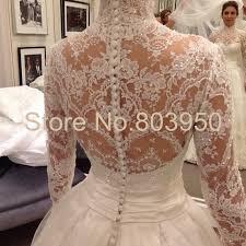 turmec high neck long sleeve wedding dresses