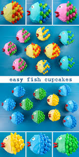 little fishy cupcakes fish cupcakes fish and cupcake frosting