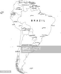 map of and south america black and white blue map of south america with flag against white background