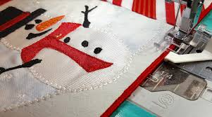 creative feet snowman mug rug sewing quilting and embroidery