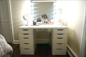 Table Vanity Mirror Tabletop Makeup Mirror Dresser For Organize White Storage High