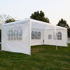 Walmart Bbq Canopy by Wedding Party Tent Outdoor 10 U0027x20 U0027 Easy Set Gazebo Bbq Canopy