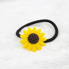 sunflower headband new arrival novelty floral flower sunflower children elastic hair