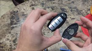 how to replace change a key fob battery infiniti g37 youtube