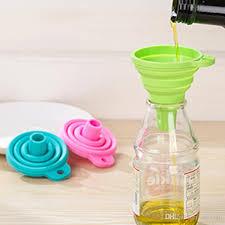 entonnoir cuisine acheter mini trémie d entonnoir de gel de silicone pliable pliable