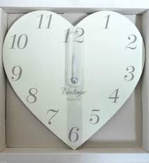 shabby chic vintage wooden heart wall clock handcraftedhomeshop