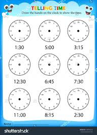 clock worksheets online kindergarten clock lesson for kindergarten practice plan activities