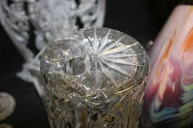 Waterford Vases On Sale Broken Crystal Arm Bruening Glass Works