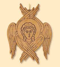 Engraved Pendant Small Hanging Seraphim Laser Engraved Pendant