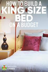 how we make a diy king size bed frame on a budget in 8 easy steps