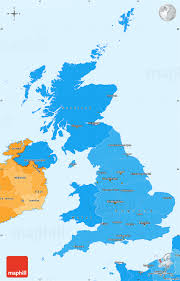 Map Of The United Kingdom Political Shades Simple Map Of United Kingdom