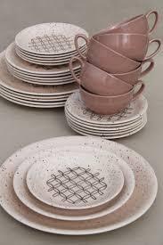 mid century modern vintage dinnerware set 50s vernonware heyday
